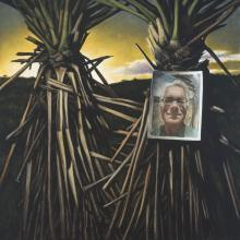 """Yucca Selfie, 2016, oil on canvas, 30 x 30"""""""