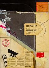 "document #1 2012 mixed media collage frame: 15 1/4 x 12 1/4""/i.s. 7 1/4 x 5 1/4"""