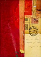 """document #2, 2012, mixed media collage, f.s. 15 1/4 x 12 1/4"""" / i.s. 7 1/4 x 5 1/8"""""""