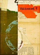 """document #3, 2012, mixed media collage, f.s. 15 1/4 x 12 1/4"""" / i.s. 7 1/4 x 5 1/4"""""""