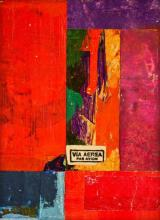 """document #5, 2012, mixed media collage, f.s. 15 1/4 x 12 1/4"""" / i.s. 7 1/8 x 5 1/8"""""""