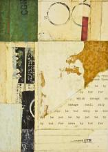 "document #12 2013 mixed media collage frame: 15 1/4 x 12 1/4""/i.s. 7 1/4 x 5 1/4"""