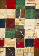 "document #16 2013 mixed media collage frame: 15 1/4 x 12 1/4""/i.s. 7 1/8 x 5 1/8"""