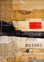 "document #18 2012 mixed media collage frame: 15 1/4 x 12 1/4""/i.s. 7 x 5"""