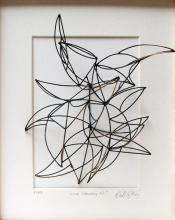 Line Drawing #1, 2013, patinated bronze, 10 x 8 x 5""