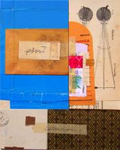 """untitled 2 2007 mixed media collage 11 1/2 x 9"""""""