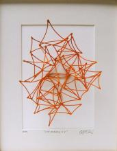 """Line Drawing #5, 2013, cold painted bronze, 10 x 8 x 5"""""""