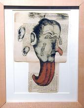 """Storyteller 1999 watercolor/ink 7 1/4 x 4 7/8"""""""