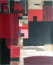 """rom the dust of time 2009 mixed media collage on museum board 20 1/4 x 16 3/4"""""""