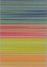 Linear Collage V (Dominant Green), 2012, cut and stacked colored paper, 6 1/2 x 4 1/2 x 1 1/2""