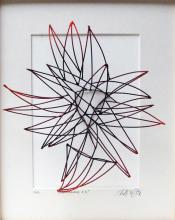 """Line Drawing #3, 2013, cold painted bronze, 10 x 8 x 5"""""""