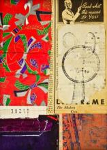 """Document #6, 2013, mixed media collage, f.s. 15 1/4 x 12 1/4"""" / i.s. 7 1/4 x 5 1/4"""""""