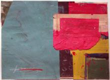 """true north 2010 mixed media collage on museum board 9 x 11 3/8"""""""