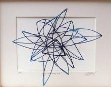 Line Drawing #4, 2013, cold painted bronze, 10 x 8 x 5""