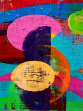 """Turnabout 2006 acrylic on board 8 1/2 x 6 1/2"""""""