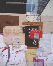 in the shadow of doubt 2007 mixed media collage 10 1/2 x 8 1/