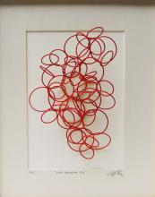 """Line Drawing #6, 2013, cold painted bronze, 10 x 8 x 5"""""""