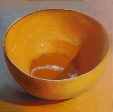Bowl, 2016, oil on board, 12 x 12""