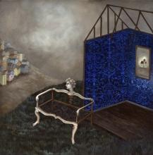"""Inside Out, 2009, oil on canvas, f.s. 25 1/2 x 25 1/2"""" / i.s. 20 x 20"""""""