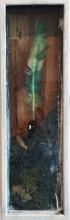 """Nesting Charles, 2016, intaglio, found objects, 26 1/2 x 8 1/4 x 3 1/2"""""""