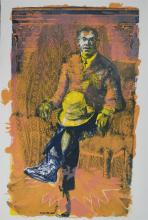 Self-Sufficient Man, 2011, lithograph, ed. Artist Proof, 27 x 18""
