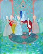 """The Game, 2012, gouache on paper, f.s. 44 x 36"""" / i.s. 40 x 32"""""""