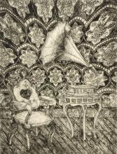 """The Silence Between Us, 2009, drypoint, ed. 28/30, f.s. 18 x 14"""" / p.s. 17 7/8 x 13 7/8"""""""