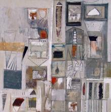 "Kanturn Bridgeworks IV 2002 Mixed media on canvas 36 x 36"""