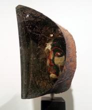 "Janus ( View 3 ) 2012 sandcast glass head: 8 1/2 x 9 x 5""/base: 60 x 12 x 12"""