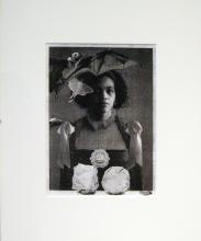 "Belle Cantos Series (Bat), 2012, collage, p.s. 15 1/2 x 13"" / i.s. 9 1/2 x 7"""