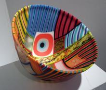 A Brief Glance 2009 kiln cast and drop formed mosaic glass 8 x 12 x 12 in