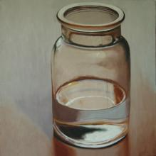 Jar, 2016, oil on board, 18 x 18""