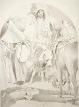 The Epiphany at Damascus 2002 Graphite on paper 24 1/2 x 18 1/2""