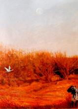 Flight to Egypt 2005 Acrylic on paper 22 x 16""