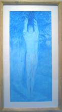 "Haman 2010 Conte and acrylic wash on paper Frame size: 45 3/4 x 26 1/2""/i.s. 37 1/4 x 15"""