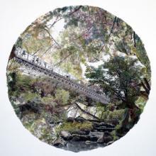 "Future Present Past, 2011, ltd. ed. hand-painted original photomontage, s.s.: 34 x 34"", ed. 1/5"