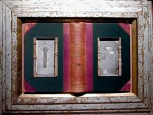 """Door to Door 2005 Assemblage 16 x 21 1/4 x 2"""""""