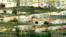 "17th & Rhode Island 2006 C-prints and acrylic on panel 28 x 50"""