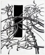 """I want ____ so badly, I would not mind losing ____ for it., 2012, graphite on paper, glass mirror, 21 x 28 1/4"""""""