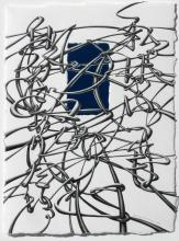 """I Will Always Want To Be Someone Who Is ____., 2011, graphite on paper, glass mirror, 13 x 9 3/4"""""""