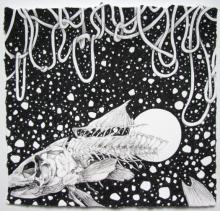 """The Midnight Swimmer 2009 ink on paper 9 1/2 x 8 3/4"""""""