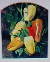 Peper Bells 1994 Acrylic on paper 12 x 10""