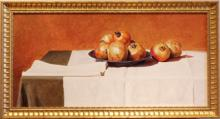 Pomegranates 2004 Acrylic on panel 16 x 33""