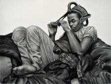 "Roots, 2016, charcoal, 38 x 50"""