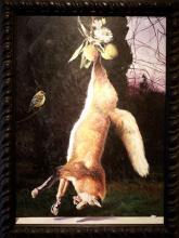 Suspended Fox 2004 Acrylic on panel 33 x 24""
