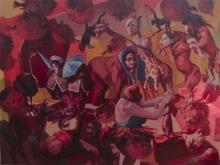 "Masquerade 2009 oil on panel 30 x 40"""