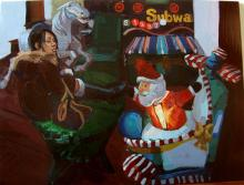 """One Horse Open Sleigh 2009 oil on panel 12 x 16"""""""