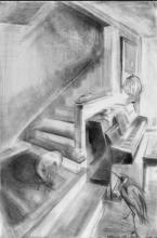Study for Music 2004 Graphite on paper 47 x 37""