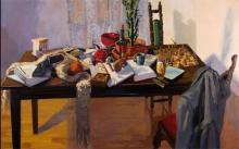 """A Measured Absence 2007 oil on canvas 36 x 60"""""""