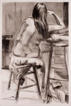 """Curved Back 2004 Graphite on paper 22 x 13"""""""